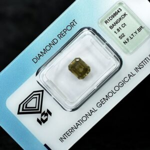 Diamond, 1.81 ct, Emerald, Natural Fancy Light Yellow Brown, SI2_3