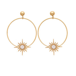 Earrings Stainless Steel 316L in Gold Color