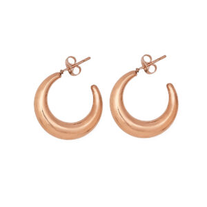 20mm Stainless Steel 316L Earrings in Pink Gold Color