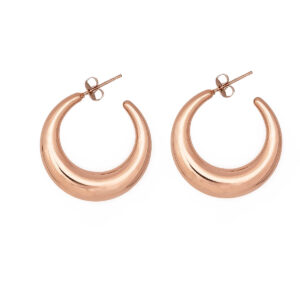 30mm Stainless Steel 316L Earrings in Pink Gold Color