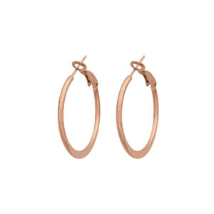 30mm Earrings Stainless Steel 316L in Pink Gold Color